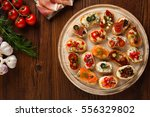crostini with different... | Shutterstock . vector #556329802