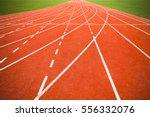 perspective view of running... | Shutterstock . vector #556332076
