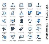 marketing strategy icons   blue ... | Shutterstock .eps vector #556333156