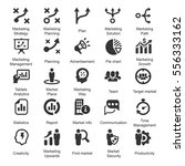 marketing strategy icons   gray ... | Shutterstock .eps vector #556333162