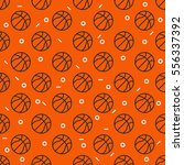 basketball sport seamless... | Shutterstock .eps vector #556337392