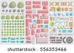 set of landscape elements.... | Shutterstock .eps vector #556353466
