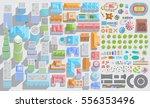set of landscape elements. city.... | Shutterstock .eps vector #556353496