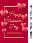 happy valentines day background ... | Shutterstock .eps vector #556353832