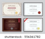 set of diploma or certificate... | Shutterstock .eps vector #556361782