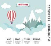 travel mountain lanscape flat... | Shutterstock .eps vector #556365112