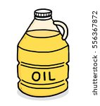 vegetable oil bottle   cartoon... | Shutterstock .eps vector #556367872