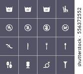 various icon set on black...