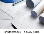 architectural blueprints and... | Shutterstock . vector #556374586
