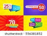 set of sale sign banner poster... | Shutterstock .eps vector #556381852