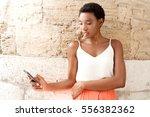 portrait of beautiful african...   Shutterstock . vector #556382362