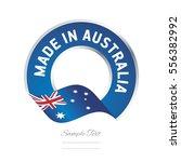 made in australia flag blue... | Shutterstock .eps vector #556382992