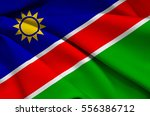 flag of namibia | Shutterstock . vector #556386712