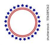 round frame american flag... | Shutterstock .eps vector #556389262