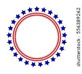 Round Frame American Flag...