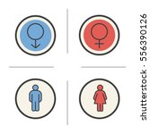 gender symbols. color icons set.... | Shutterstock .eps vector #556390126