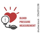 blood pressure measurement icon ... | Shutterstock .eps vector #556391158