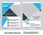 blue brochure template flyer...   Shutterstock .eps vector #556400092