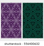 set of lace seamless pattern...   Shutterstock .eps vector #556400632