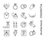 set of jewelry related vector... | Shutterstock .eps vector #556400716