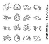 set of speed related vector... | Shutterstock .eps vector #556402012
