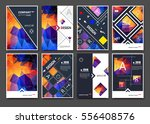 abstract bright binder art.... | Shutterstock .eps vector #556408576