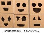 cardboard heads of  robot | Shutterstock . vector #556408912