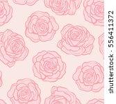 rose flower seamless pattern.... | Shutterstock .eps vector #556411372