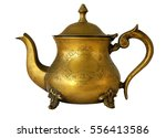 antique brass teapot with a...   Shutterstock . vector #556413586