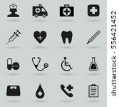 medical icon set isolated on... | Shutterstock .eps vector #556421452