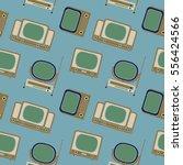 vector pattern 50s. seamless... | Shutterstock .eps vector #556424566