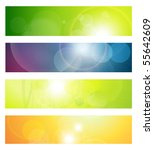 banners  headers abstract... | Shutterstock .eps vector #55642609