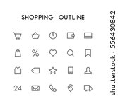 shopping outline icon set  ... | Shutterstock .eps vector #556430842