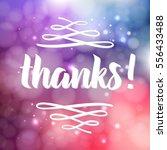 thank you phrase for social... | Shutterstock .eps vector #556433488