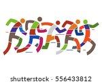 running race marathon. ... | Shutterstock .eps vector #556433812
