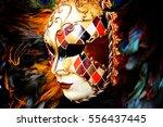 Venetian Mask With Plumage....