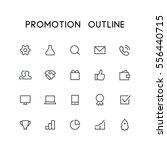 promotion outline icon set  ... | Shutterstock .eps vector #556440715