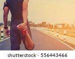 handsome man doing exercises... | Shutterstock . vector #556443466