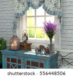 provence style in interior. the ... | Shutterstock . vector #556448506