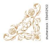 gold vintage baroque ornament...   Shutterstock .eps vector #556452922