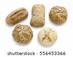 Assorted Buns Isolated On Whit...