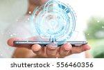 businessman on blurred... | Shutterstock . vector #556460356