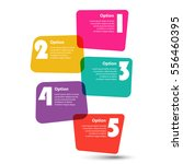 infographic template. 5 steps... | Shutterstock .eps vector #556460395