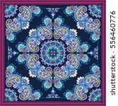 vector ornament paisley bandana ... | Shutterstock .eps vector #556460776