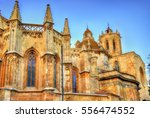 Cathedral of Tarragona in the evening - Catalonia, Spain - stock photo
