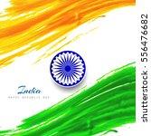 modern indian flag theme... | Shutterstock .eps vector #556476682
