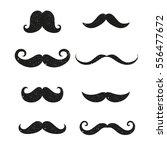 set of black silhouette hipster ... | Shutterstock .eps vector #556477672