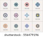 geometric logo template set.... | Shutterstock .eps vector #556479196
