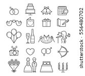 wedding linear icons set  love  ... | Shutterstock .eps vector #556480702