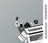 freelance objects. background... | Shutterstock .eps vector #556485496